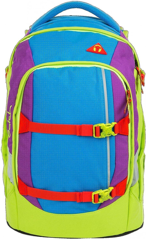 Satch Schoolbag Set Multi-Coloured blue green purple