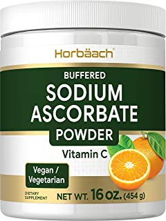 Sodium Ascorbate Vitamin C Powder | 16 oz | Buffered | Vegetarian, Non-GMO, Gluten Free | by Horbaach