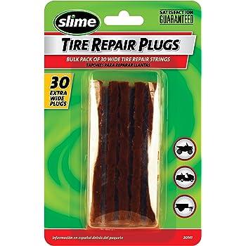 """Slime 20141 Extra-Wide Brown Tire Repair Strings, 4"""" (Pack of 30)"""
