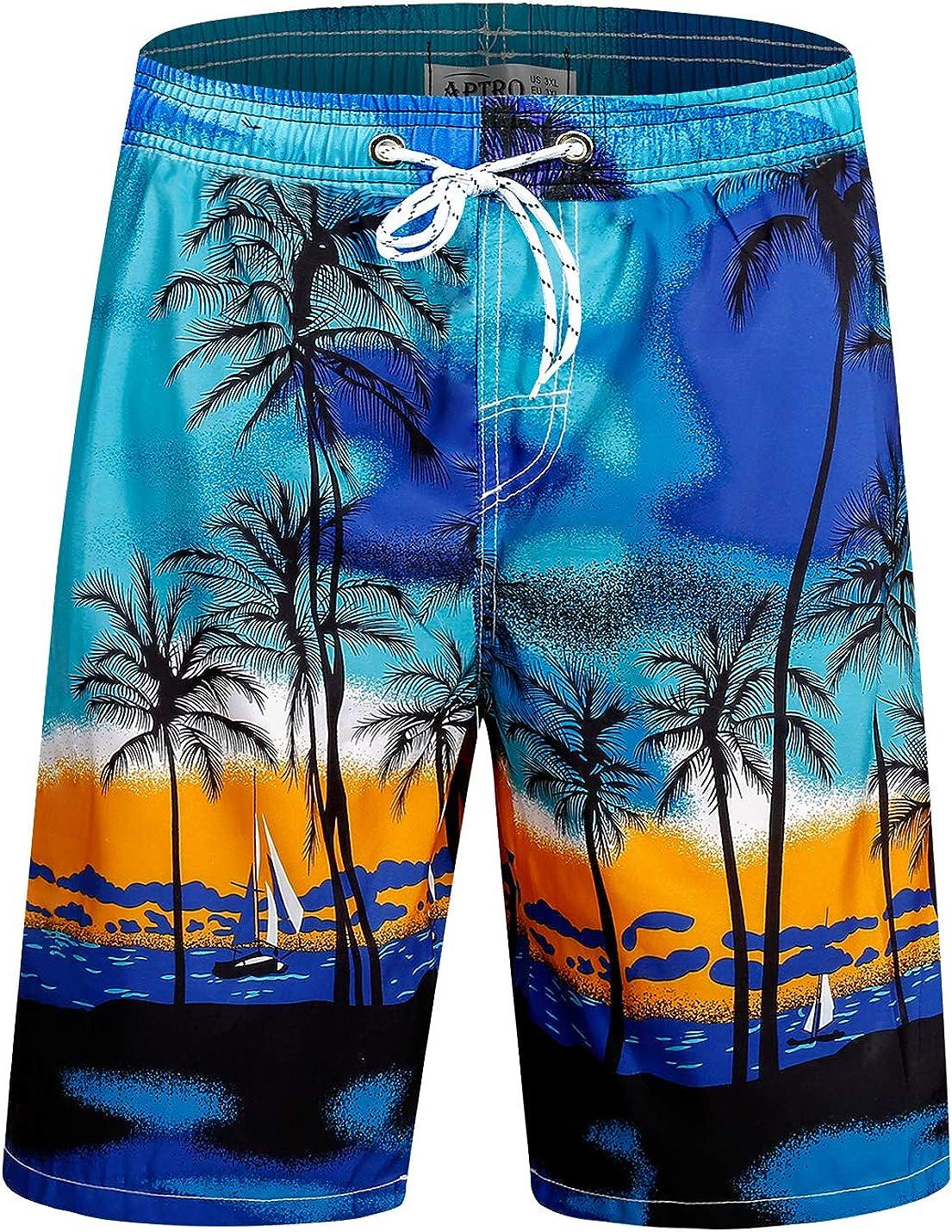 APTRO Men's Swim Trunks Quick Dry Swimsutis Beach Shorts Bathing Suits