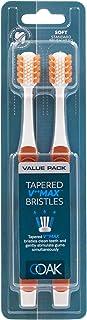 OOAK Toothbrush, Tapered V++Max Soft Bristles, 2 Pack - Orange