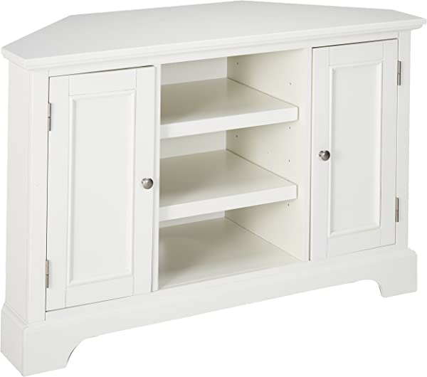 Naples White Corner Entertainment Credenza By Home Styles