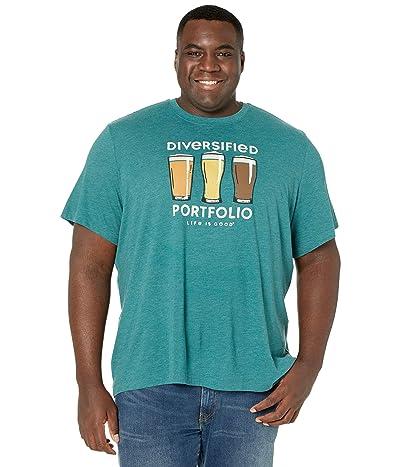 Life is Good Diversified Portfolio Beer Cool Tee (Spruce Green) Men