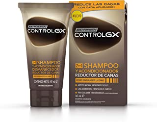Just For Men Control GX Champú + Acondicionador. Reduce Las Canas Gradualmente. Resultado Natural. 147ml