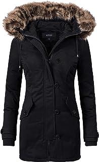 NUTEXROL Womens Winter Coats Thicken Hooded Parka Jacket Overcoat