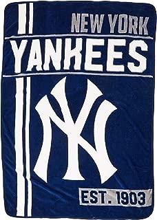 The Northwest Company MLB New York Yankees Micro Raschel Throw, One Size, Multicolor