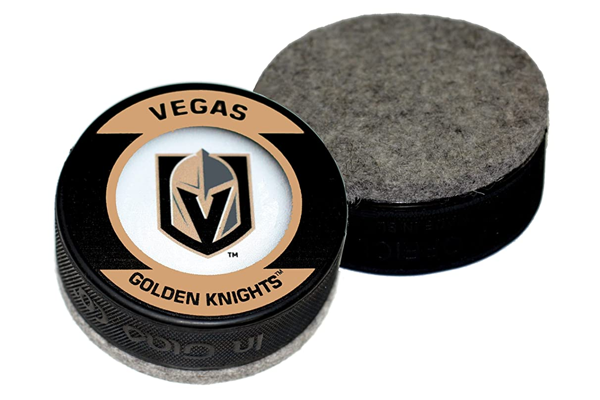 EBINGERS PLACE Las Vegas Golden Knights Retro Series Hockey Puck Board Eraser for Chalk Boards and Whiteboards