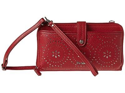 The Sak Iris Large Smartphone Crossbody (Scarlet Mandala Perf) Cross Body Handbags