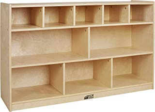 ECR4Kids Birch 5+5 Storage and Tray Cabinet, Natural