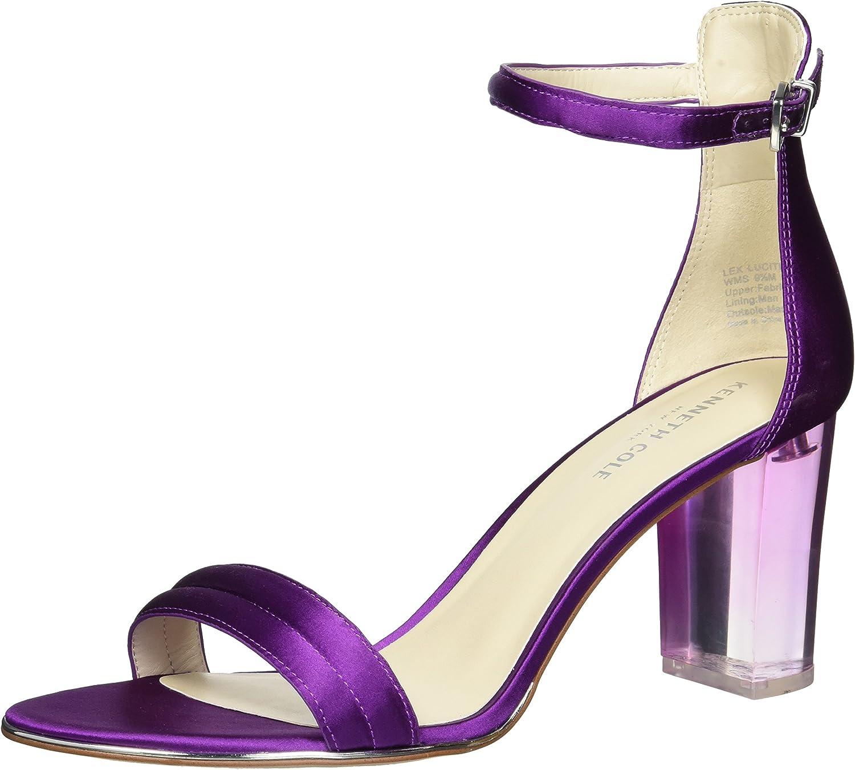 Kenneth Cole New York Womens Lex Lucite Heel Dress Sandal Heeled Sandal