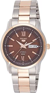 SEIKO Men's Automatic Watch, Analog Display and Stainless Steel Strap SNKP18J1