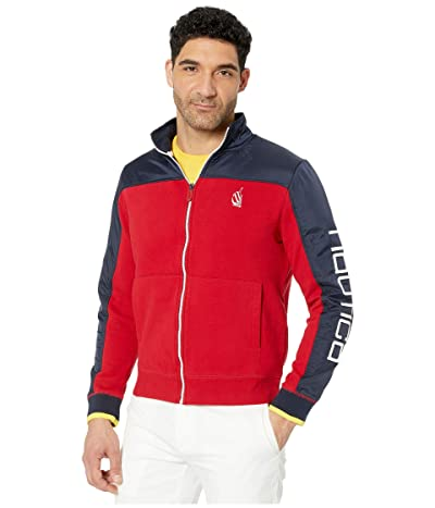 Nautica Color-Blocked Track Jacket (Red) Men