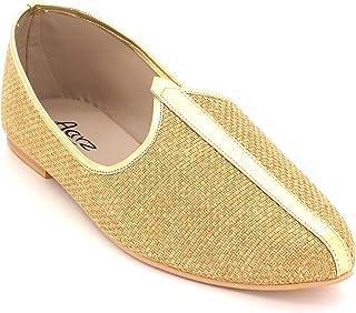 Mens Gents Groom Shimmery Traditional Ethnic Wedding Indian Pumps Khussa Jutti Mojari Slip On Flat Shoes Size