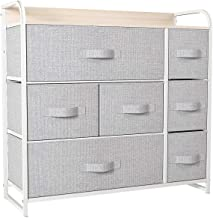YITAHOME Dresser with 7 Drawers - Furniture Storage Tower Unit for Bedroom, Hallway, Closet, Office Organization - Steel F...