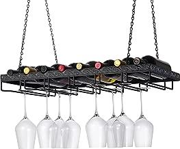 Wine Enthusiast Metal Hanging Wine Glass Rack