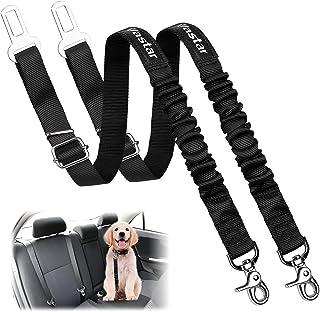 Vastar 2 Packs Pet Dog Seat Belt Leash Adjustable Dog Cat Safety Leads Harness, Vehicle Car Seatbelt Harness for Pets with...