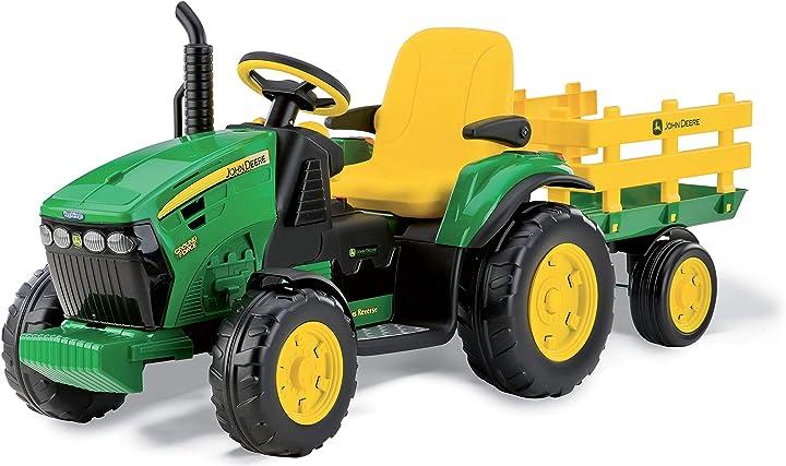 Trattore per bambini peg perego igor0047 trattore elettrico john deere ground force