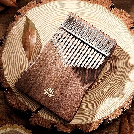 カリンバ (親指ピアノ) くるみ 17 keys Kalimba 高級木材 初心者に最適な楽器 (専用ケース/クロス/キーステッカー/調整用ハンマー/楽譜集付き) 無垢材