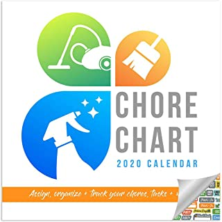 Chore Chart Calendar 2020 Habit Tracking and Planner Wall Calendar with Over 100 Calendar Stickers
