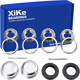 XiKe 2 Set Fits for 25mm Axles Trailer Wheel Hub Bearings Kit, 30205 Bearings and Seal TC 30x52x10mm, Rotary Quiet High Sp...