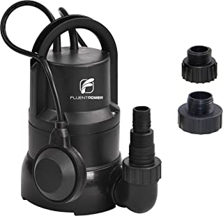 FLUENTPOWER 1/3 HP Electric Submersible Small Utility Drain Water Pump 3/4