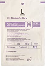 Kimberly Clark Safety 55093 Purple Nitrile Exam Glove, Sterile Pairs, Large (Pack of 50)