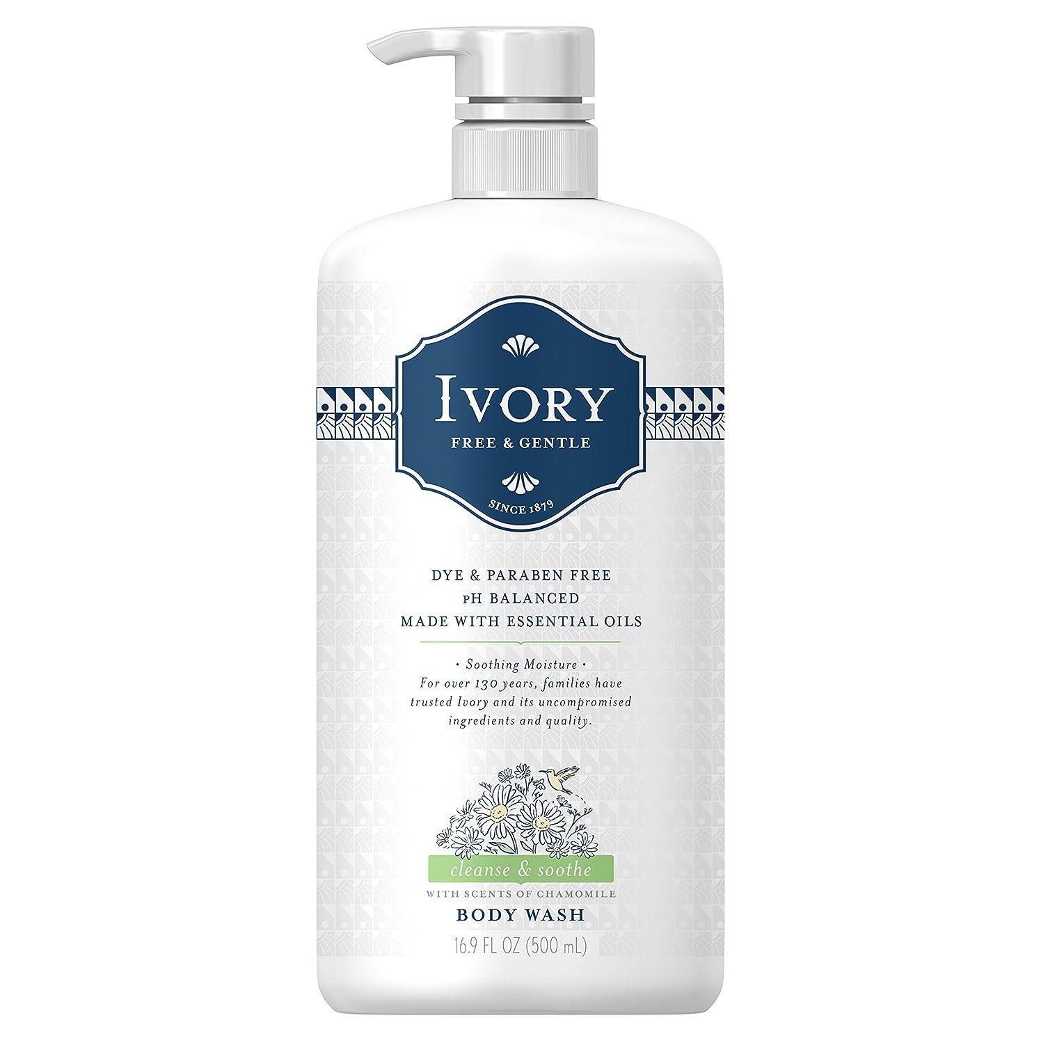 修正写真を描く物理Ivory free&gentle body wash pear&sandalwood (chamomile)