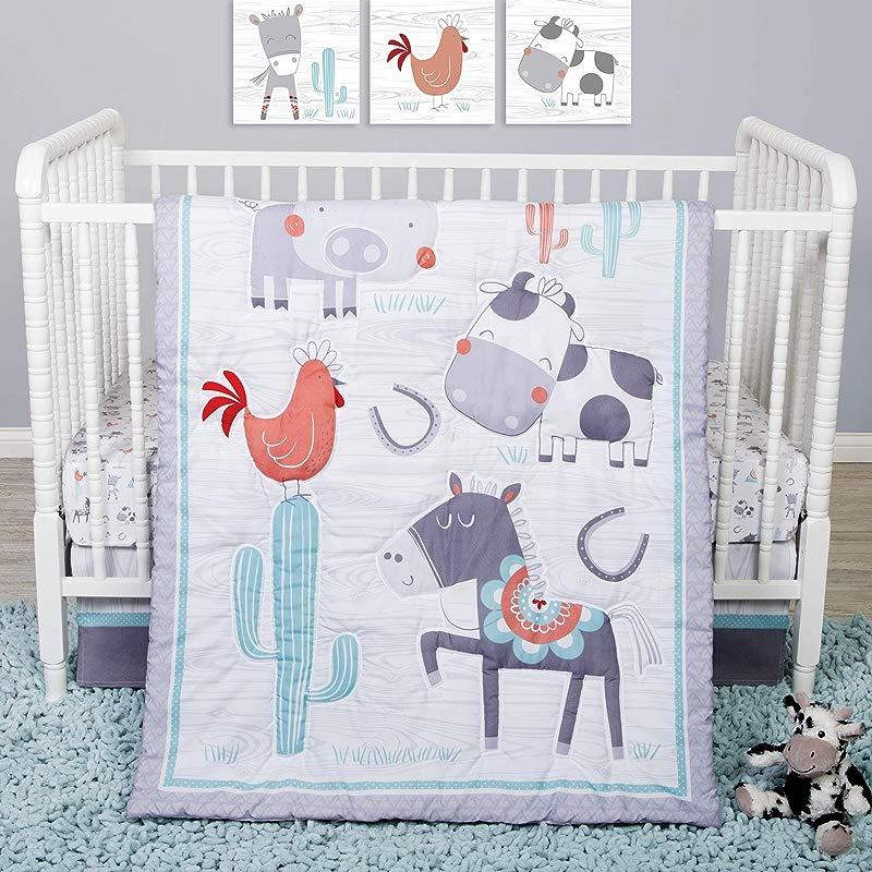 Sammy Lou Sammy And Lou Farmstead Friends 4 Piece Crib Bedding Set
