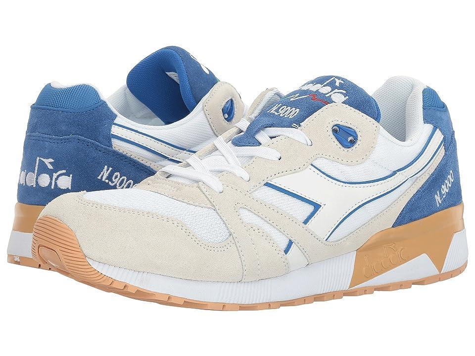 Diadora N9000 III (White/Princess Blue) Athletic Shoes