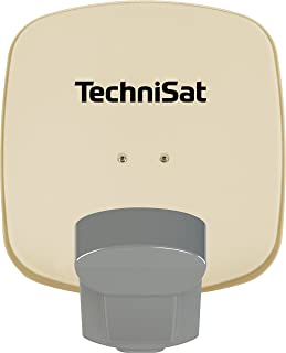 TechniSat Multytenne Quattro Satellitenschüssel (45cm Sat Anlage, 4 Orbitpositionen, 1 Teilnehmer) beige