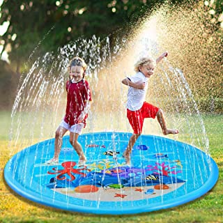 Hope Soo Splash Play Mat Sprinkler Pad for Kids 68in Inflatable Outdoor Water Toys Fun for Toddlers Boys Girls Outdoor Party Sprinkler Toy