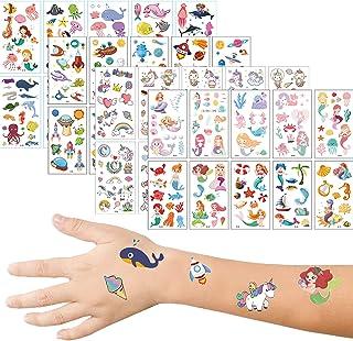 Widream 40 pcs Waterdicht Tijdelijk voor Kinderen Stickers, Tatoeage Stickers voor Kinderen, Tatoeages Eenhoorn Stickers, ...