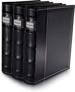 Bellagio-Italia Black DVD Storage Binder Set - Stores Up to 144 DVDs, CDs, or Blu-Rays - Stores DVD Cover Art - Acid-Free ...