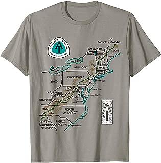AT Logo Appalachian Trail Hiking Map T-shirt
