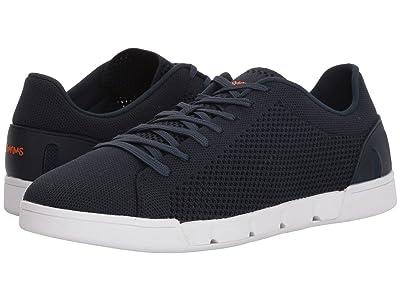 SWIMS Breeze Tennis Knit Sneakers (Navy/White) Men