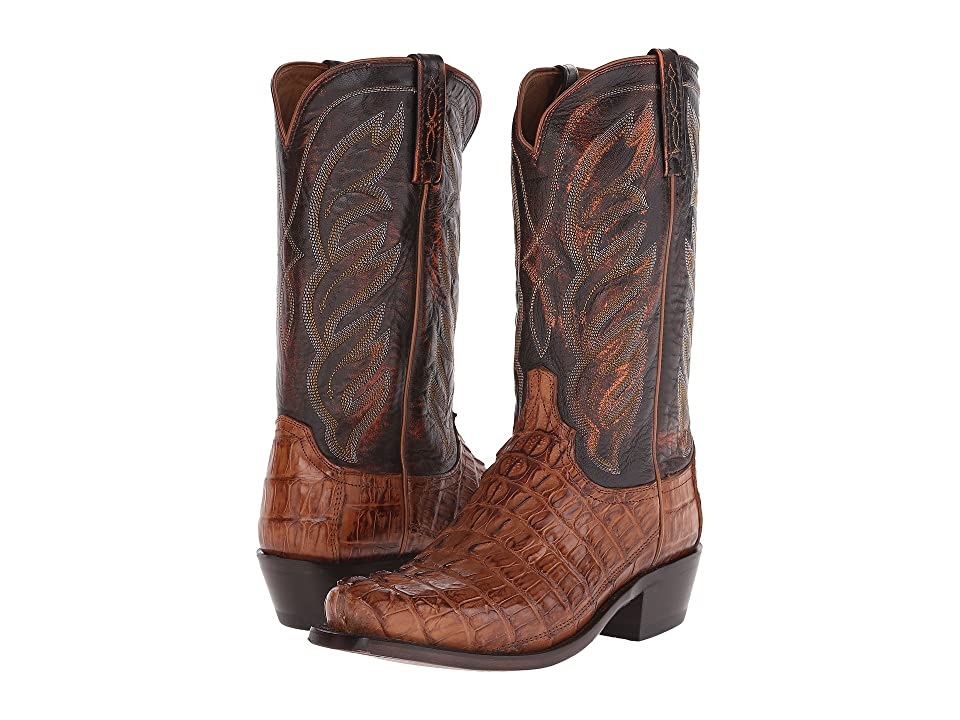 Lucchese M2691 (Tan Hornback Caiman) Cowboy Boots