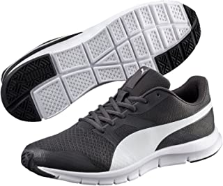 PUMA Men's Flexracer, Asphalt-White, Running Shoes