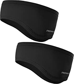 The Friendly Swede Running Headband Ear Warmer - 2-Pack, Sports Headband for Outdoors, Running, Cycling, Hiking - Ideal as Liner Under Helmets