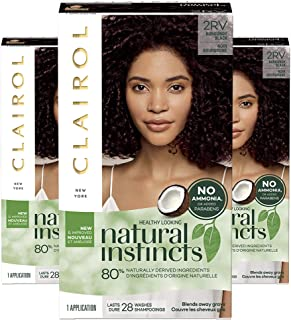 Sponsored Ad - Clairol Natural Instincts Semi-Permanent, 2RV Burgundy Black, Blackberry, Pack of 3