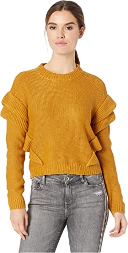 Cabin Fever Ruffle Sleeve Sweater