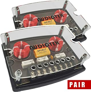 Audiotek High Performance CX4 de 600 vatios de potencia máxima de 2 vías, 4 ohmios, redes de cruce pasivas de audio para c...