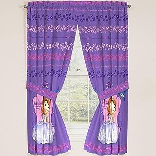 Disney Junior Sofia the First Princess Drapes Panels Curtains, Set of 2 (42