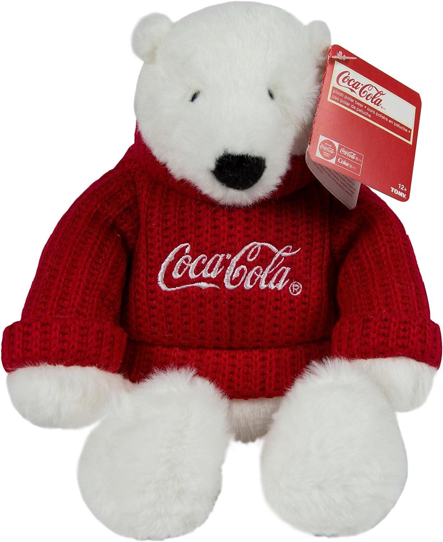 Coca-Cola 8  Sweater Bear Plush 8 inch