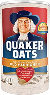 Quaker Old Fashioned Oatmeal, Breakfast Cereal, 42 oz Canister
