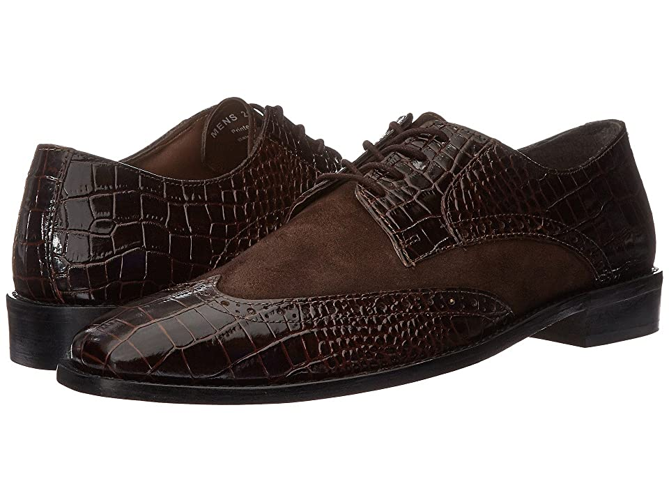 Stacy Adams Arturo Leather Sole Wingtip Oxford (Brown) Men