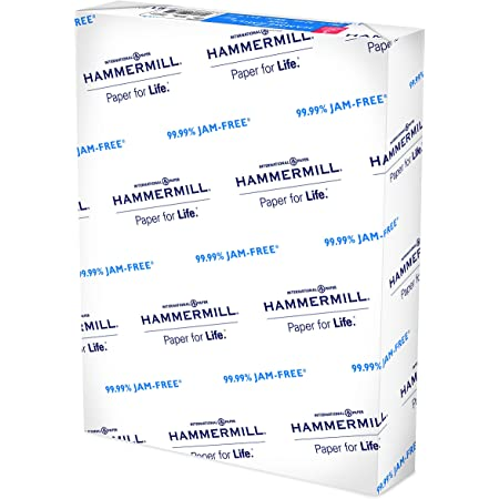 Hammermill Printer Paper, 20 lb Copy Paper, 3 Hole - 1 Ream (500 Sheets) - 92 Bright, Made in the USA, 10503-1