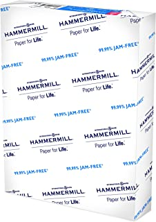 Hammermill Printer Paper, 20 lb Copy Paper, 3 Hole - 1 Ream (500 Sheets) - 92 Bright, Made in the USA