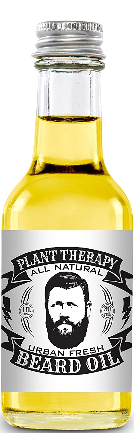 Beard Oil, All Natural Beard Oil Made with 100% Pure Essential Oils, Creates a Softer, Healthier Beard (Urban Fresh) by Plant Therapy Essential Oils