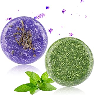 2 Stücke Shampoo Bar, Phogary Haar Seife Lavendel  Minze Verschiedene Duftstoffe Essenz Shampoo für Trockenes und Geschädigtes Haar - Hilfen stoppen Haar-Verlust und Fördern Gesundes Haar