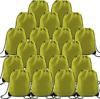 Sponsored Ad - Lime Green Pull String Bag Large Sturdy Drawstring Gym Backpack for Men Women, Custom String Cinch Bag Mult...